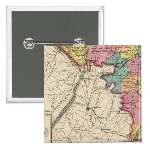 Atlas topográfico del condado de Maryland Pin