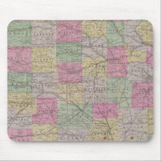 Atlas topográfico oficial del estado de Kansas Tapete De Ratones