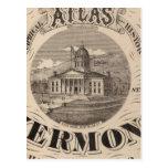 Atlas topográfico tarjeta postal