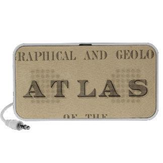 Atlas topográfico y geológico de la página de títu altavoz de viaje