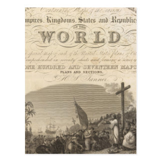 Atlas universal de la página de título nuevo postal