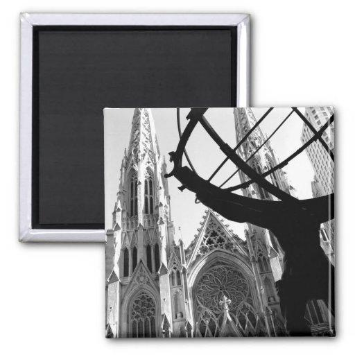 Atlas y la catedral de St Patrick: Imán de NYC