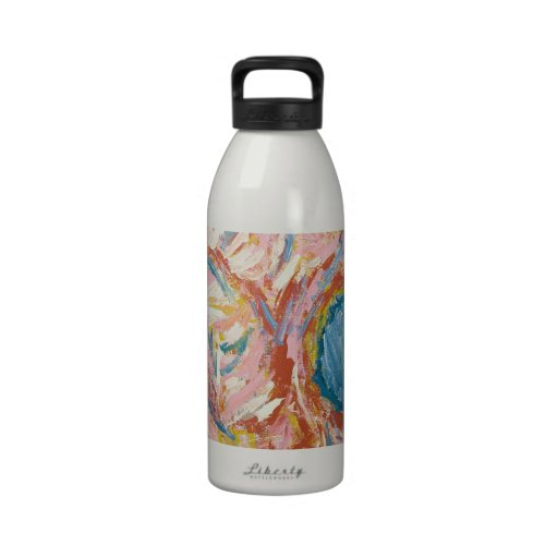 Atlas's Back and Shoulders(abstract expressionism) Water Bottle