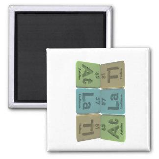 Atlatl-At-La-Tl-Astatine-Lanthanum-Thallium 2 Inch Square Magnet