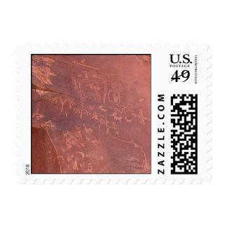"""Atlatl"" Petroglyphs Stamp"