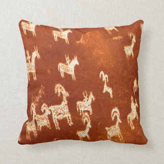 Atlatl Petroglyphs Throw Pillow