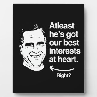 ATLEAST HE'S GOT OUR BEST INTERESTS AT HEART PHOTO PLAQUE