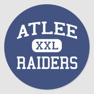 Atlee - Raiders - High - Mechanicsville Virginia Classic Round Sticker