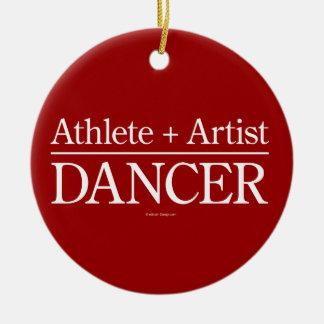 Atleta + Artista = bailarín Adorno Navideño Redondo De Cerámica