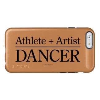 Atleta + Artista = bailarín Funda Para iPhone 6 Plus Incipio Feather Shine