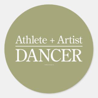 Atleta + Artista = bailarín Pegatina Redonda