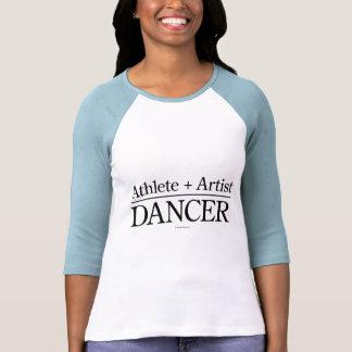 Atleta + Artista = bailarín Camiseta