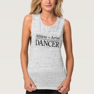 Atleta + Artista = bailarín Playera De Tirantes Anchos