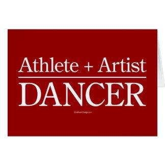 Atleta + Artista = bailarín Tarjeta De Felicitación