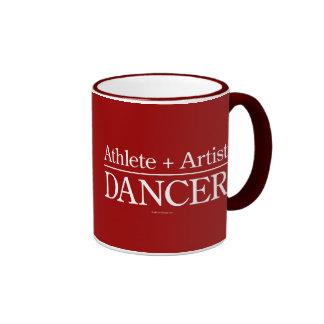 Atleta + Artista = bailarín Taza De Dos Colores