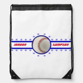 Atleta de la estrella de béisbol mochila