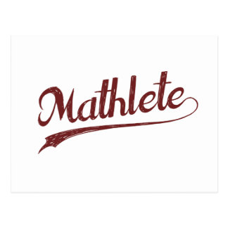 Atleta de la matemáticas de All Star Mathlete Postales
