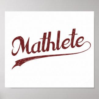 Atleta de la matemáticas de All Star Mathlete Póster