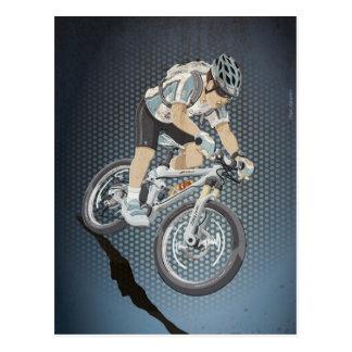 Atleta de Mountainbike del deporte de la postal cu