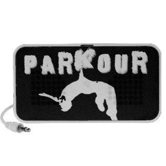 Atleta de Parkour Mini Altavoces