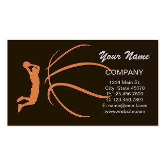 Atleta del baloncesto plantilla de tarjeta personal