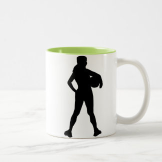 Atleta del chica; Fresco Taza De Dos Tonos