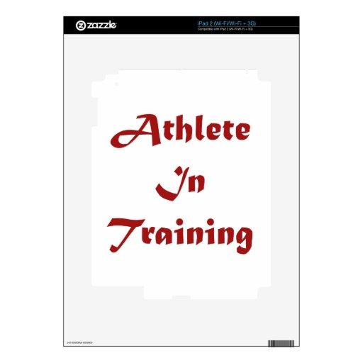 Atleta en el entrenamiento calcomanía para iPad 2