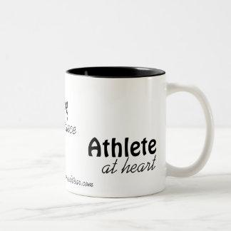 """""""Atleta en taza adaptable del corazón"""""""