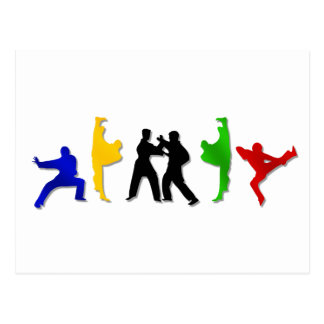 Atleta para hombre de los artes marciales del postal