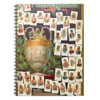 Atletas 1884 del campeón del mundo cuaderno