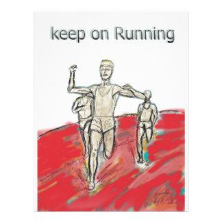 atletas, funcionamiento, rdesign del maratón plantilla de membrete