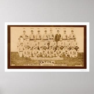 Atletismo 1913 de Philadelphia Póster