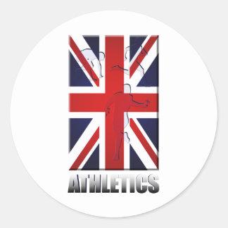 Atletismo 2012 - Deportes del atletismo Pegatina Redonda