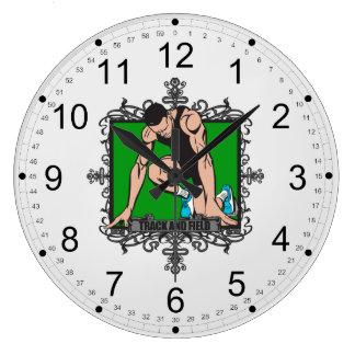 Atletismo agresivo reloj redondo grande