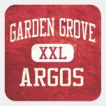 Atletismo de Argos de la arboleda del jardín Calcomanía Cuadrada