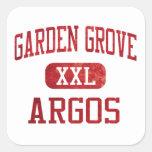 Atletismo de Argos de la arboleda del jardín Calcomania Cuadrada Personalizada