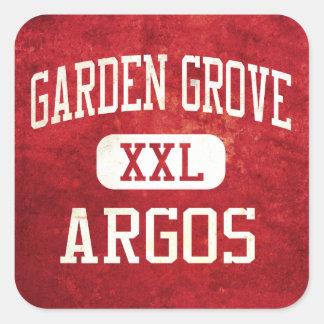 Atletismo de Argos de la arboleda del jardín Pegatina Cuadrada