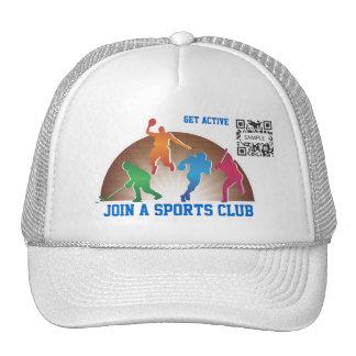 Atletismo de la escuela de la plantilla del gorra