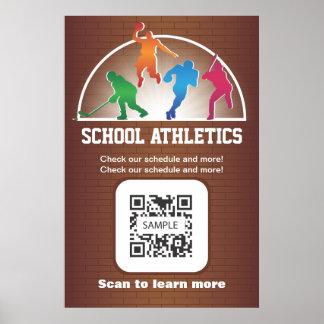Atletismo de la escuela de la plantilla del poster