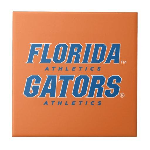 Atletismo de la Florida - azul y blanco Azulejo Cuadrado Pequeño