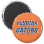 Atletismo de la Florida - azul y blanco Imán Redondo 5 Cm