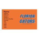 Atletismo de la Florida - azul y blanco Plantilla De Tarjeta De Visita