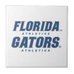 Atletismo de la Florida - azul y naranja Azulejo Cuadrado Pequeño