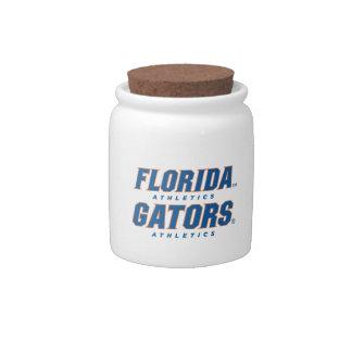 Atletismo de la Florida - azul y naranja Jarra Para Caramelo