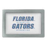 Atletismo de la Florida - azul y naranja Hebilla Cinturón Rectangular