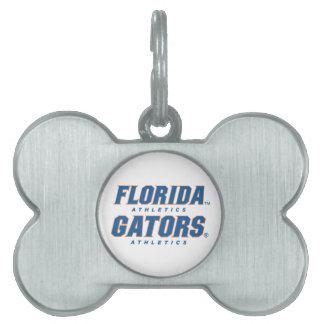 Atletismo de la Florida - azul y naranja Placas Mascota