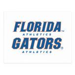 Atletismo de la Florida - azul y naranja Postales