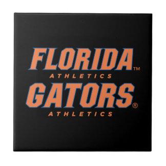 Atletismo de la Florida - naranja y azul Azulejo Cuadrado Pequeño