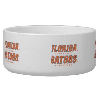 Atletismo de la Florida - naranja y azul Bol Para Perro