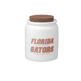 Atletismo de la Florida - naranja y azul Platos Para Caramelos